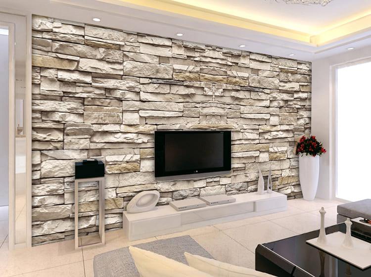ورق جدران حجري 3d